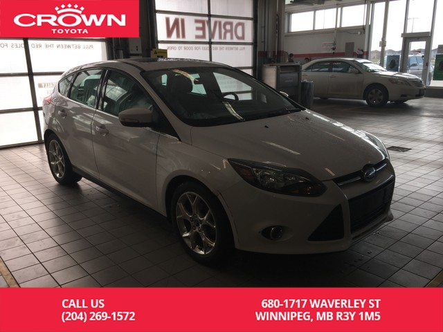 Pre-Owned 2013 Ford Focus 5dr HB Titanium / Low Kms / Manitoba Vehicle / Great Condition / Leather / Navigation / Fully Loaded