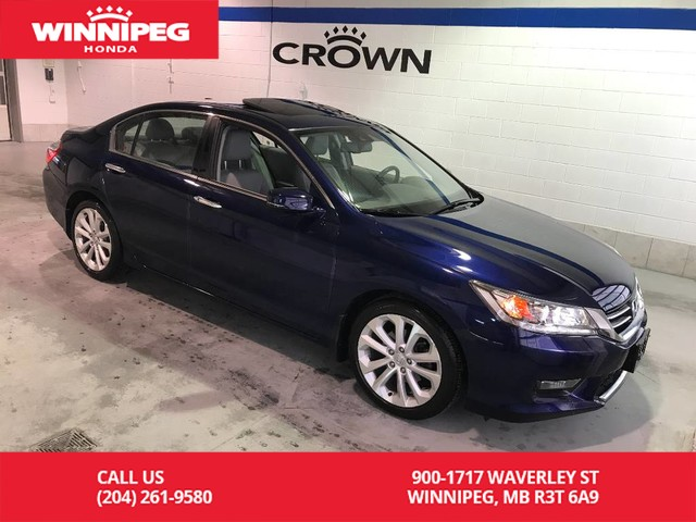 Certified Pre-Owned 2015 Honda Accord Sedan Certified/Touring/Bluetooth/heated seats/sunroof/navigaiton
