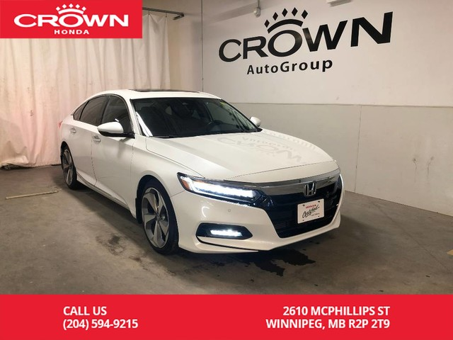 Pre-Owned 2018 Honda Accord Sedan Touring 2.0 Auto/ APPLE CAR-PLAY & ANDROID AUTO/ HEATED SEATS
