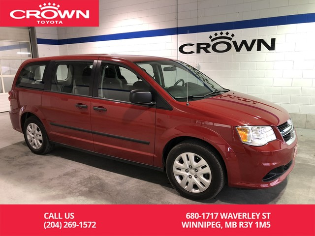 Pre-Owned 2016 Dodge Grand Caravan Canada Value Package / One Owner / Low Kms / Great Condition