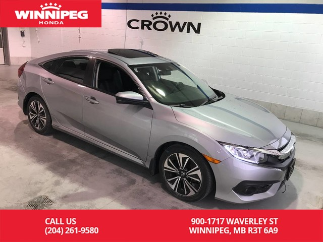 Pre-Owned 2016 Honda Civic Sedan EX-T/Lease return/Sunroof/Bluetooth/Turbo/Heated seats