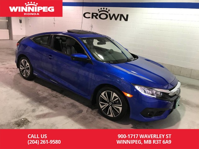 Pre-Owned 2017 Honda Civic Coupe EX-T w/Honda Sensing/Bluetooth/Heated seats/Sunroof