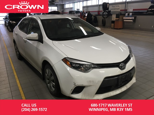Pre-Owned 2015 Toyota Corolla LE / Crown Original / Accident Free / Great Value