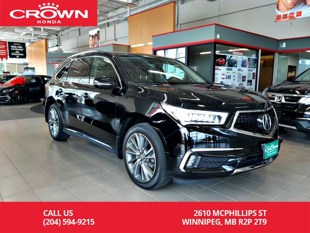 Pre-Owned 2017 Acura MDX SH-AWD Elite Pkg/ accident-free history/ one owner/7-seater/ low kms/ ultrawide rear entertainment sys/ sunroof
