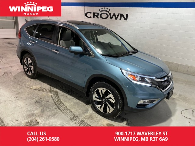 Pre-Owned 2015 Honda CR-V Touring/AWD/Navigation/Sunroof/Leather/Power tail gate