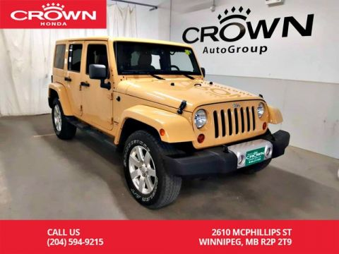 Pre-Owned 2013 Jeep Wrangler Unlimited Sahara/4wd/Man/ONE OWNER/