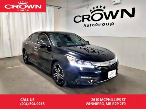 Pre-Owned 2017 Honda Accord Sedan Sport/ONE OWNER/ VERY LOW KMS/ PUSH START/ SUNROOF/ HEATED SEATS/ ECON MODE/ BACK UP CAM