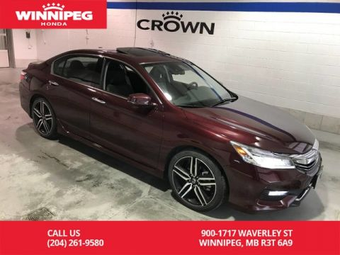 Pre-Owned 2017 Honda Accord Sedan V6 Auto Touring/Bluetooth/Navigation/Heated seats/Sunroof