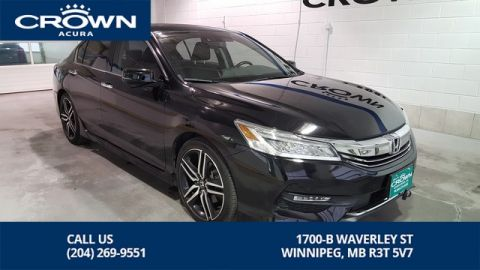 Pre-Owned 2017 Honda Accord Sedan Touring V6 ** Heated Leather Seats ** Navigation **