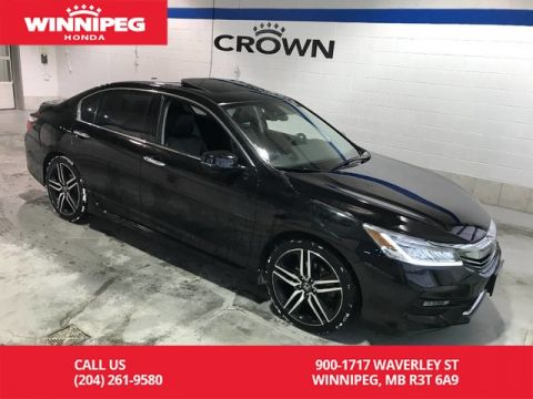 Pre-Owned 2017 Honda Accord Sedan Touring/Navigation/Leather/Heated seats/V6
