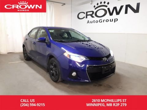 Pre-Owned 2016 Toyota Corolla S/ low kms/ heated seats/ back up cam/ remote start/
