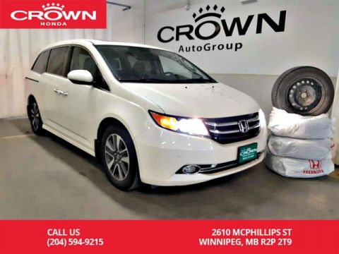 Pre-Owned 2015 Honda Odyssey Touring w/RES & Navi/one owner lease return/low kms/ ultrawide r
