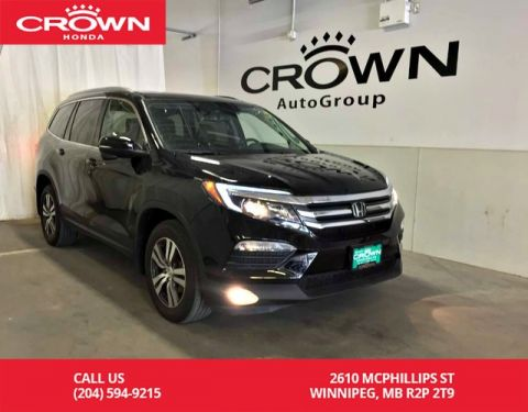 Pre-Owned 2017 Honda Pilot EX-L/low kms/ 8 seaters/ rear entertainment system/back up cam /